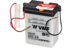 Een VMF motor accu met 2 ampere/uur en 6volt
