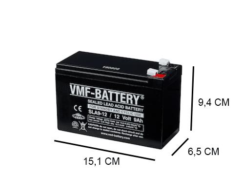 9Ah AGM accu VRLA van VMF 12V