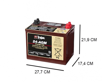 24 AGM trojan industrial dc agm 12v 76ah