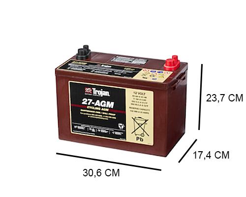 27 AGM trojan industrial dc agm 12v 89ah