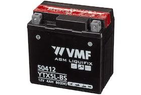 De YTX5L-BS is een AGM accu van VMF met een capaciteit van 4Ah
