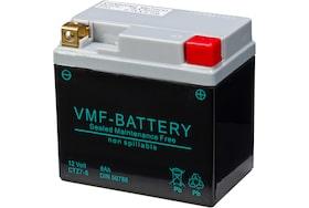 De 70588 AGM motoraccu van VMF heeft een capaciteit van 6Ah