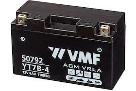 de 50792 AGM motoraccu van VMF heeft een capaciteit van 6Ah