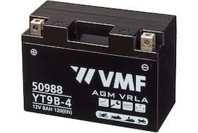 De 50988 AGM motoraccu van VMF heeft een capaciteit van 8Ah