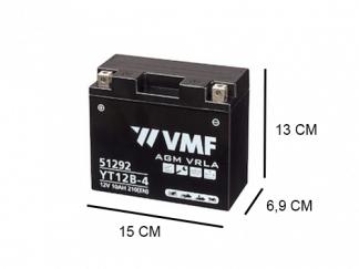 EEN factory activated 10Ah AGM motor accu van VMF