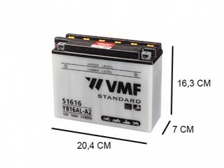 51616 Motor accu van VMF 16Ah Powersport