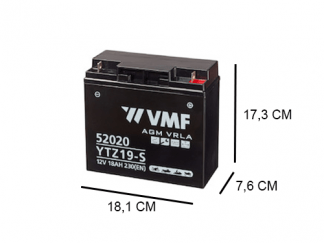 52020 VMF 21Ah motoraccu YTZ19-S