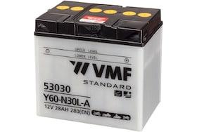 Een VMF motorfietsaccu 53030 ook wel bekend als de Y60-N30L-A