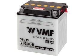 een vmf accu met een capaciteit van 30ah die gebruikt kan worden om een motor te starten