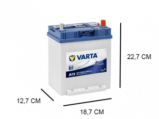 A13 Varta Blue Dynamic 40Ah,12V, 330A (540125033)