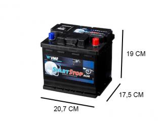 50Ah AGM Start-stop accu van VMF