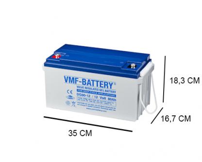 VMF 80Ah Deep Cycle gel accu van 12V
