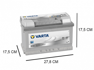 E38 Varta accu 74ah Silver Dynamic 574402075
