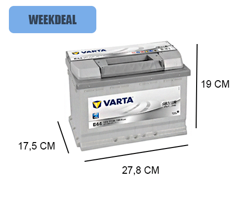 E44 Varta accu 77ah Silver Dynamic 577400078