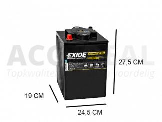 Exide ES1000-6 6v accu 190Ah voor de recreactie