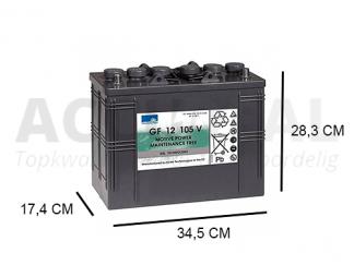 GF12-105V-accu sonnenschein gel accu 120Ah