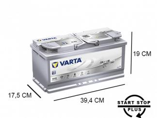 H15 Varta start stop accu 105ah AGM Silver Dynamic 605901095