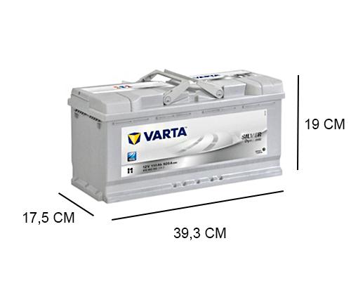 I1 Varta accu 110ah Silver Dynamic 610402092