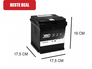 JBL40-A vierkante autoaccu startaccu 175x175 cm 40Ah