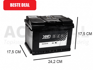 JBL60-A 60Ah autoaccu van het merk JBE 12V 500A