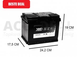 JBL60-HA 60Ah autoaccu van het merk JBE 12V 500A
