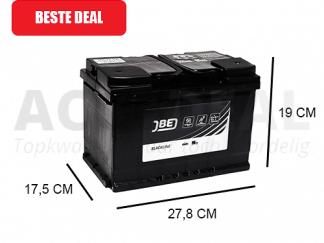 JBL74-HA 74Ah autoaccu van het merk JBE 640A 12V