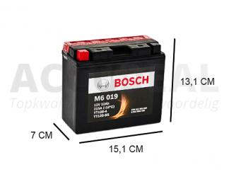 YT12B-BS 12V 10Ah Bosch motorfiets accu AGM