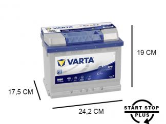 N60 Varta start-stop accu 60ah EFB Bleu Dynamic 560500064