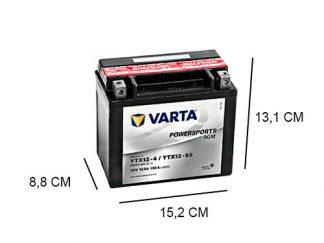 Een Varta YTX12-BS 10Ah AGM motor accu van 12V
