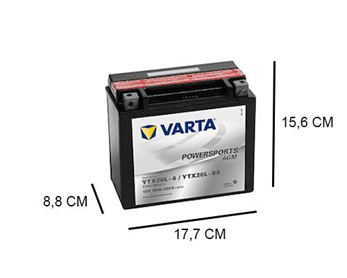YTX20L-4 varta afm 12v 18ah