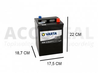 Varta E29 70Ah accu 300A, 12V Black dynamic promotive