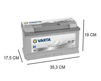 H3 Varta accu 100ah Silver Dynamic 600402083
